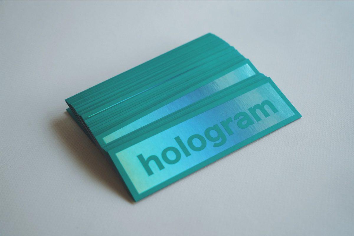 シール印刷事例:ホログラムシールサンプルを作成