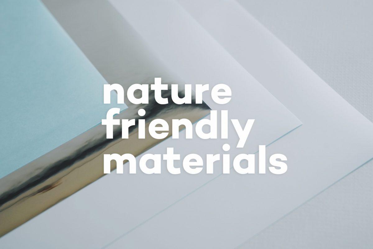 自然に優しいシール素材