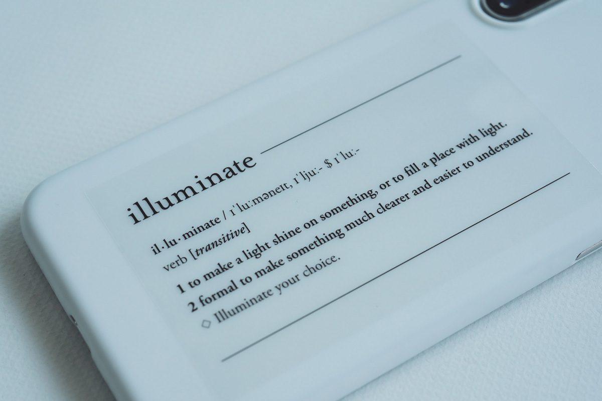 illuminate 透明シール