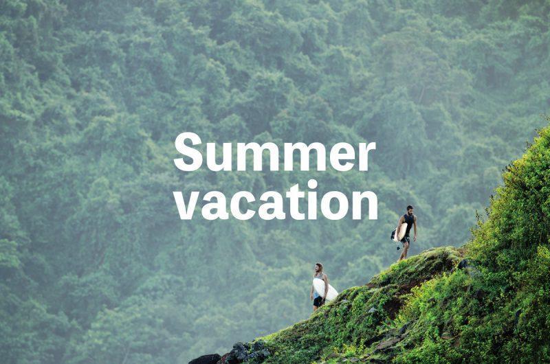 夏休みのおしらせ